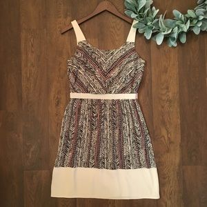 LOFT Sleeveless Tribal Print Dress